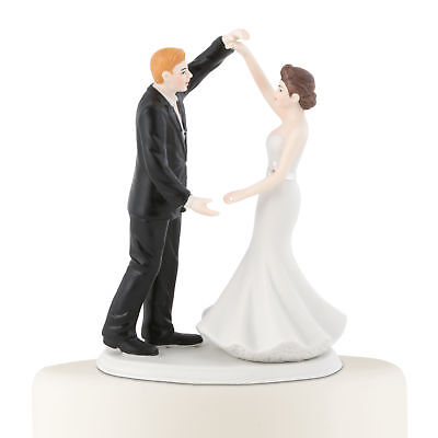 Wedding Cake Topper Hand Painted Porcelain Dancing The Night Away
