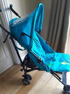 Mothercare Nanu stroller buggy pushchair VGC. Rain cover Instructions Cosy toes