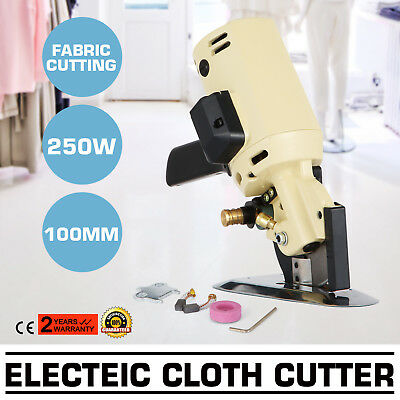 "Electric Cloth Cutter Cutting Machine 100mm 4"" Blade Industrial Sew Tool Fabric"