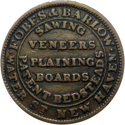 1837 New Haven Connecticut Hard Times Token Forbes & Barlow HT-102 Low 291