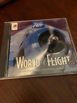 Microsoft World of Flight CD-ROM- Vintage 1995- Never used, excellent condition!