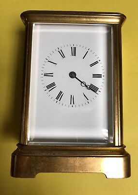 Antique Brass Carriage Clock With Keys