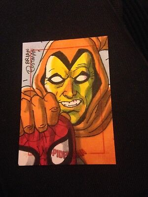 Marvel Spider-Man Archives Sketchafex  Sketch Card Brian Postman MINT
