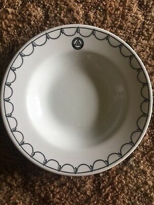 Vintage United States Ship Lines Bowl Buffalo China 9 In. Diameter