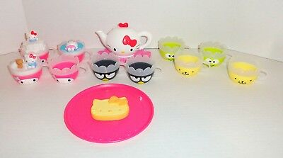 McDonalds Hello Kitty Tea Set Teapot Cups Tray HUGE LOT