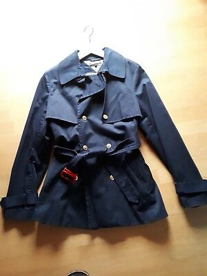 TH TOMMY HILFIGER Damen Mantel TRENCHCOAT JACKE Blau   Gold L   XL NEU e04d36233c