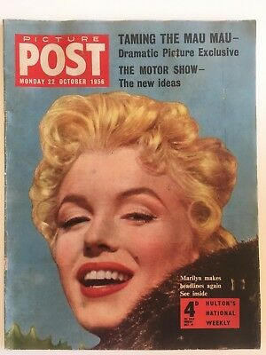 Marilyn Monroe Picture Post Cover Magazine 1956 Rare from UK Bus Stop