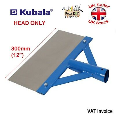 "Steel Blade BUILDING FLOOR and ICE SCRAPER 300mm (12"") HEAD ONLY"