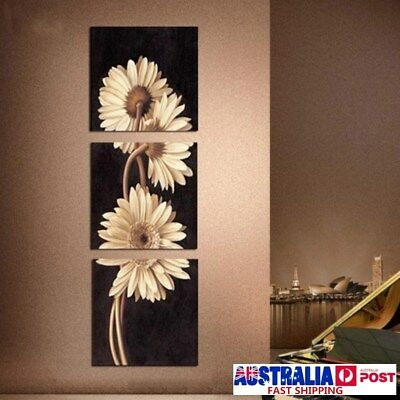 3Pcs Chrysanthemum Art Oil Canvas Painting Print Wall Pictures Home Decor 4 Size