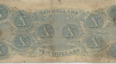 "$10 ""blueback""! (Csa) Rare Note! $10 ""blueback Note"" (Csa) ""confederate""! Nice!!"