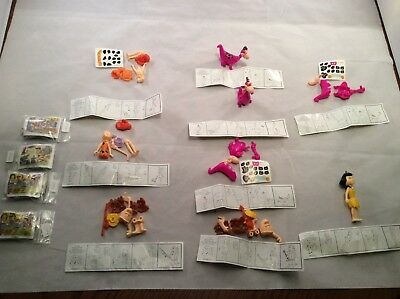 Kinder Surprise Flintstones lot of 13, characters and puzzles 1994
