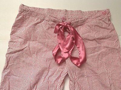 701c6e079f5 Victorias Secret LOVE PINK Sz Medium Striped Pajama Sleep Capri Pants