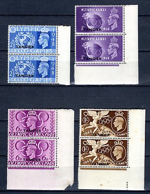 Morocco Tangier 1948 Olympic Full Set In Pairs Of Mnh Stamps Un/mm