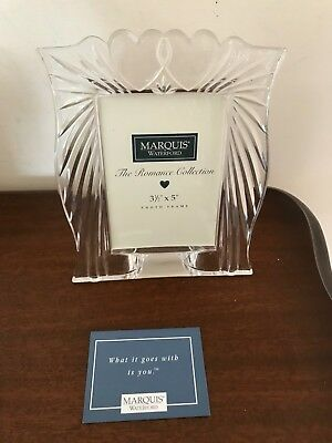 """NIB Waterford Crystal Marquis Romance Collection 3 1/2"""" x 5"""" Photo Frame"""