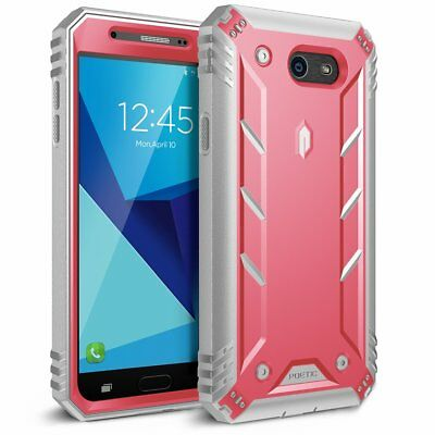 Samsung Galaxy J7 Rugged Case,Poetic® Dual Layer Shockproof Cover Pink