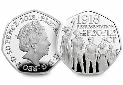 2018 Representation Of The People Act 50p Fifty Pence Coin Bank Sealed Condition