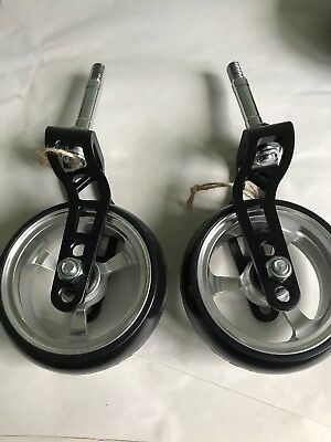 """Pair Of Wheelchair Or Power Chair Forks And Castors Alloy 4 Inch 4"""" X 1.4"""""""