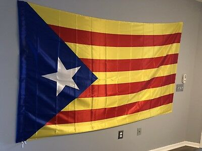 Catalonia Spain Large Flag 8' X 4.5' with Pocket for Flag Pole