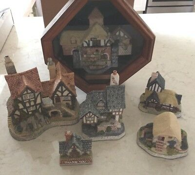 Lot of 6 Houses from David Winter Cottages Collection Handmade in England