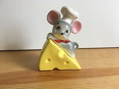 Vintage Lefton Mouse Chef Cheese Salt & Pepper Shakers Japan