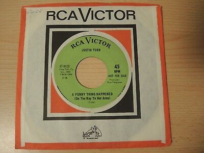 """7"""" Justin Tubb - A Funny Thing, PROMO GREEN LABEL 1968, 47-9428"""