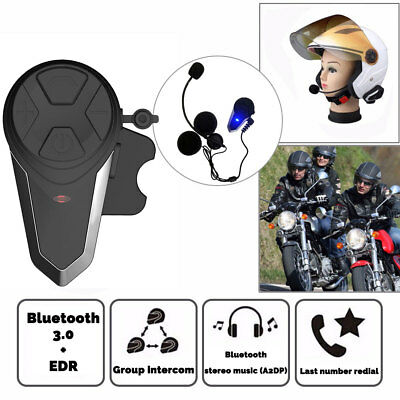 2X BT 1000M Interphone Bluetooth Motorbike Motorcycle Helmet Intercom FM Headset