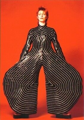 'DAVID BOWIE is'. Official V&A Exhibition Postcard (Kansai Yamamoto). Mint.