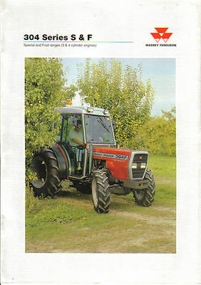 Massey Ferguson 304 Series S & F Tractor Brochure. Immaculate Condition.