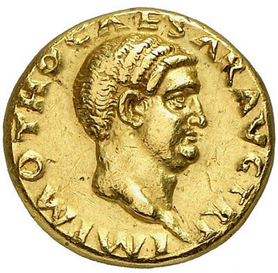 OTHO Very Rare Authentic Ancient 69AD Rome GOLD AUREUS  Coin w 1913 PEDIGREE