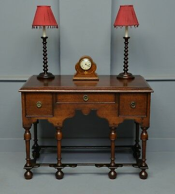 Antique William & Mary Oak Side Table / Small Sideboard