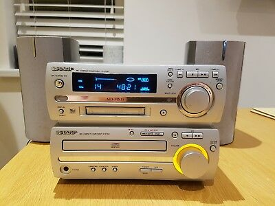 Sharp MD-MX10 Compact Component Hi-Fi MD System Radio CD Mini Disc
