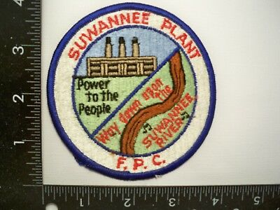 Federal DOE Contract Security Police Patch Suwannee, FL Police Florida Power Com