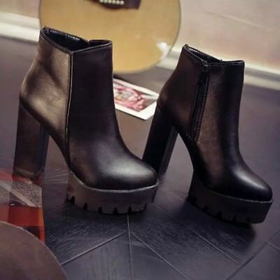 30434ec70bf057 3 Uk Fluxa Leather 5 Boots Bottes 36 Cuir Chaussures Plateformes Nn0wm8
