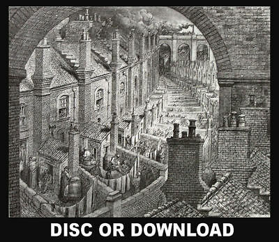 OLD VICTORIAN LONDON TOWN Antique Book Scans PLUS Rare Maps - Disc or Download