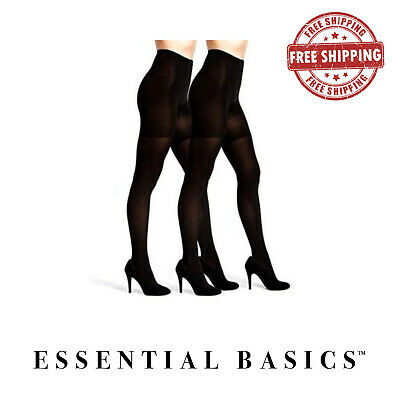 Women's Opaque Tights Black in Regular and Plus size ( Qty varies)