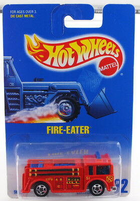 Hot Wheels 1991 Fire-Eater RED #82 MINT CAR FROM DEALER'S CASE