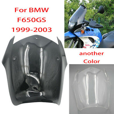 For BMW F650 GS F650GS 1999 2000 2001 2002 2003 Smoke ABS Windscreen Windshield