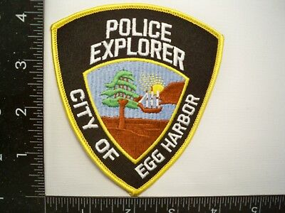Egg Harbor New Jersey NJ Police Explorer Patch Law Enforcement BSA Cheese Cloth