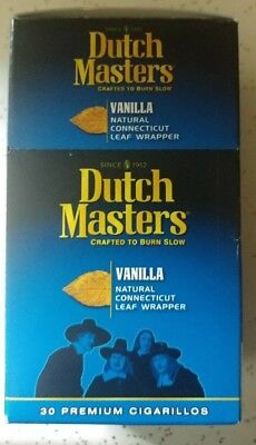 DUTCH MASTER Vanilla  CIGARLLOS BOX  30 PCS TOTAL
