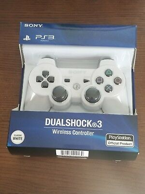 Official Sony PS3 Wireless Dualshock 3 Controller-- White