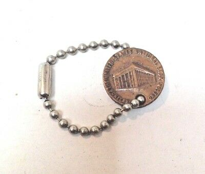 Vintage 1930's US National Bank Portland Token Key Ring