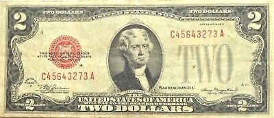 1928-D 2 Dollar United States Notes U.s.paper Money #2