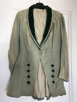 Angels Theatre costume greem millitary frock coat small (8/10)