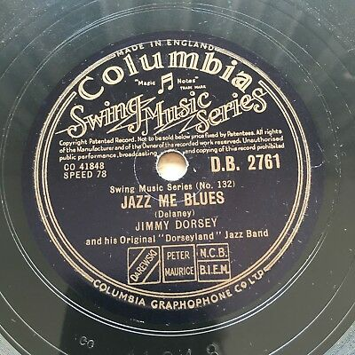 78rpm Jimmy Dorsey Jazz Me Blues / Struttin' With Some Barbecue Columbia DB2761