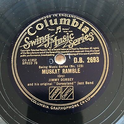 78rpm Jimmy Dorsey - Muskat Ramble / That's a Plenty Columbia DB2693 shellac
