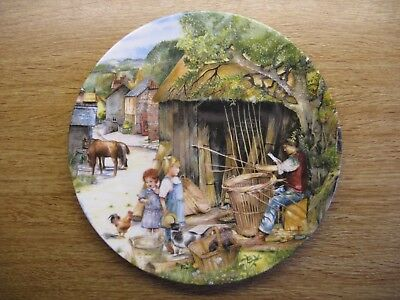 "Bradex - Royal Doulton Collectors Plate - Old Country Crafts - ""the Basket Maker"