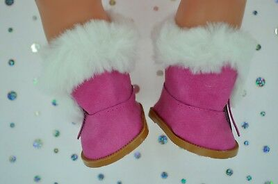 """Dolls Shoes For 17""""Baby Born~18""""American Girl  HOT PINK WINTER BOOTS"""
