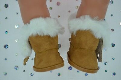 """Dolls Shoes For 17""""Baby Born~18""""American Girl  BROWN WINTER BOOTS"""