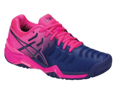 Asics Gel-Resolution 7 Tennis Shoes Blue / Pink Womens Choose Size NEW!