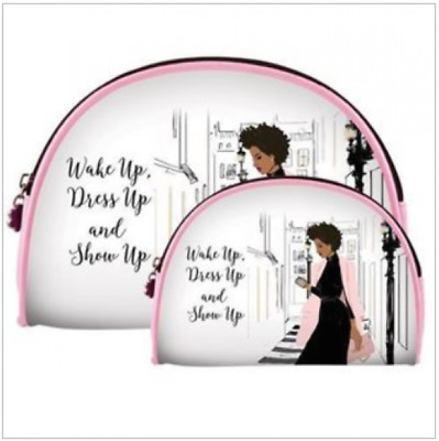 2 Piece Travel Cosmetic Bag Set Makeup Organizer, Toiletry Pouch Show Up Dress
